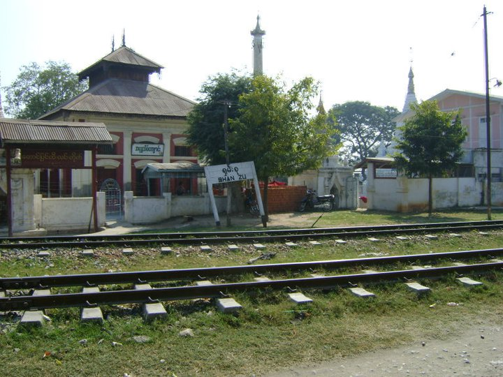 A railway station near Mandalay